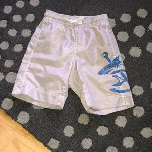 Gap Kids boys shark anchor swim trunks XS 4 5